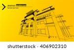 abstract architecture background | Shutterstock .eps vector #406902310