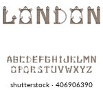 vector font in which the... | Shutterstock .eps vector #406906390