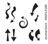 vector icon decorative arrow...