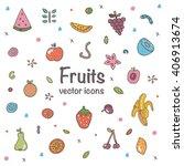 fruit vector illustration... | Shutterstock .eps vector #406913674