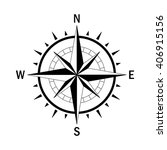 vector compass. vector geo mark ... | Shutterstock .eps vector #406915156