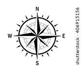 vector compass. vector geo mark ... | Shutterstock .eps vector #406915156