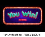 you win banner for online... | Shutterstock .eps vector #406918276