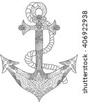 anchor coloring book for adults ... | Shutterstock .eps vector #406922938