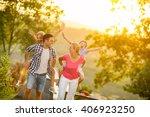 parents and children on... | Shutterstock . vector #406923250