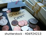 student debt stock photo high... | Shutterstock . vector #406924213