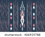 geometric ethnic oriental ikat... | Shutterstock .eps vector #406925788