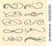 vector set of calligraphic... | Shutterstock .eps vector #406926583