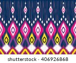 geometric ethnic oriental ikat... | Shutterstock .eps vector #406926868