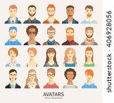 set of avatar icons.   Shutterstock .eps vector #406928056