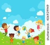 vector illustration of happy... | Shutterstock .eps vector #406929949