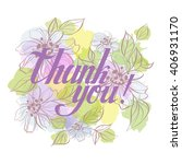 """""""thank you"""" card  lettering ... 