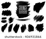 set of black ink vector stains   Shutterstock .eps vector #406931866