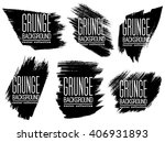 set of black ink vector stains | Shutterstock .eps vector #406931893