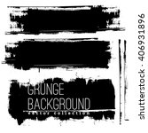 set of black ink vector stains | Shutterstock .eps vector #406931896