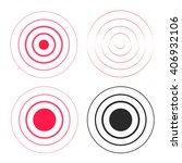 red ripple rings sound waves... | Shutterstock .eps vector #406932106