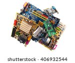 computer motherboards with fans ... | Shutterstock . vector #406932544