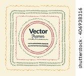 color hand drawn frames set for ... | Shutterstock .eps vector #406938316