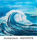 watercolor wave   Shutterstock . vector #406939078