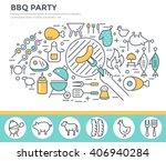 bbq invitation concept... | Shutterstock .eps vector #406940284