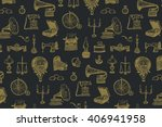 vintage objects vector graphic... | Shutterstock .eps vector #406941958
