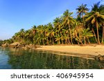 gorgeous taling ngam beach at... | Shutterstock . vector #406945954