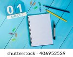 august 1st. image of august 1... | Shutterstock . vector #406952539