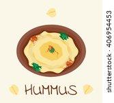 hummus traditional arabic food...   Shutterstock .eps vector #406954453