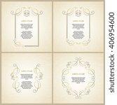 vector decorative frame.... | Shutterstock .eps vector #406954600