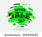 abstract sale background with... | Shutterstock .eps vector #406960630