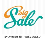 big sale typography background | Shutterstock .eps vector #406960660