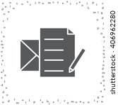 write a message icon | Shutterstock .eps vector #406962280