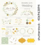 set of vector design elements ... | Shutterstock .eps vector #406963894