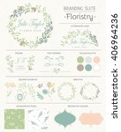 set of vector design elements ... | Shutterstock .eps vector #406964236