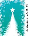 abstract christmas tree | Shutterstock .eps vector #40697125