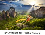 greece. meteora   incredible... | Shutterstock . vector #406976179