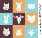 forest animal heads  vector... | Shutterstock .eps vector #406984060