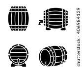 vector black barrels icons set... | Shutterstock .eps vector #406984129