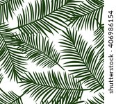green palm leaves on a white... | Shutterstock .eps vector #406986154