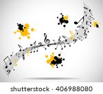 abstract musical background... | Shutterstock .eps vector #406988080
