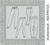 exercise wear set vector... | Shutterstock .eps vector #406990723