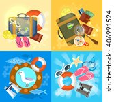 travel set summer adventures...   Shutterstock .eps vector #406991524