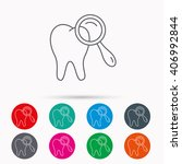 dental diagnostic icon. tooth... | Shutterstock .eps vector #406992844