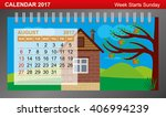 calendar 2017 with changing... | Shutterstock .eps vector #406994239