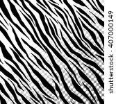 zebra stripes on transparent... | Shutterstock .eps vector #407000149