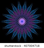 abstract fractal illustration... | Shutterstock . vector #407004718