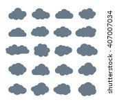 collection of cloud vector... | Shutterstock .eps vector #407007034
