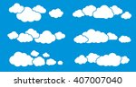 groups of clouds collection.... | Shutterstock .eps vector #407007040