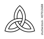 celtic trinity knot . vector...   Shutterstock .eps vector #407013688