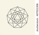 nonagon. minimal abstract... | Shutterstock .eps vector #407021308
